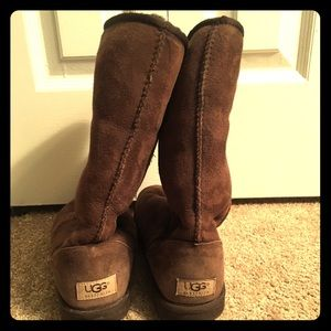 Chocolate brown classic tall Ugg boots